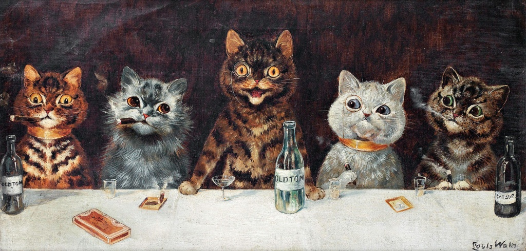 Louis Wain The bachelor party