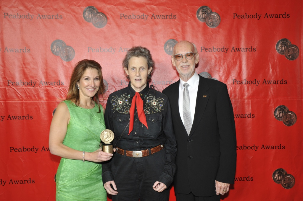 Emily_Gerson_Saines,_Temple_Grandin_and_Mick_Jackson,_May_2011_(1)