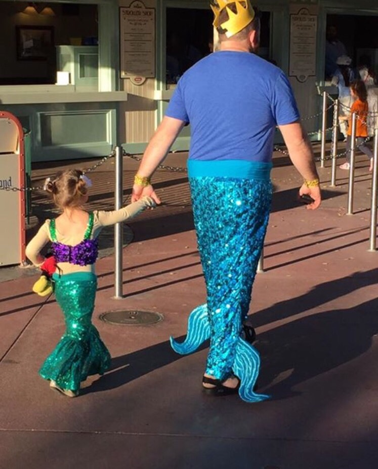 mermaid and her mer-dad at disneyland - Imgur